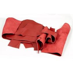 Retal de piel granulada Rojo